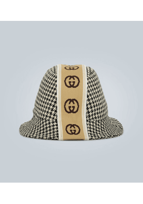 Patterned hat with Interlocking G