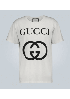 Oversized cotton T-shirt with GG