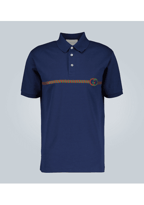 Embroidered oversized polo shirt