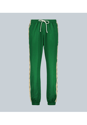 GG-trimmed relaxed-fit sweatpants