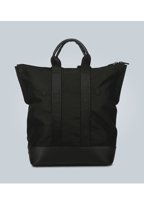 Leather-trimmed convertible backpack