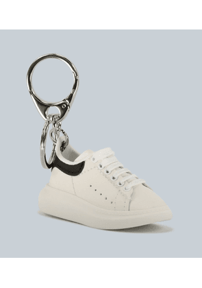 Leather sneaker keyring