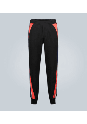 Jogger sweatpants with patch inserts