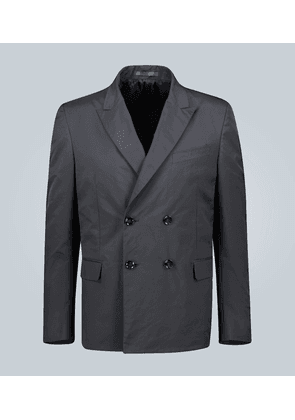 Technical double-breasted blazer