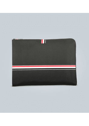 Stripe-trimmed document case