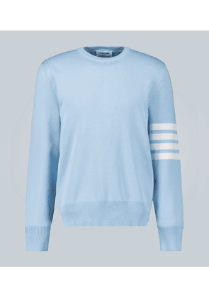 4-Bar cotton pullover sweater