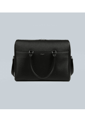 Duffle embossed-leather briefcase