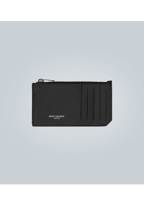 Leather ID card case