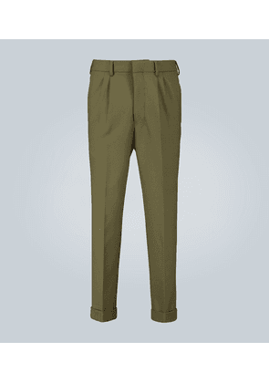 Tapered pleated pants