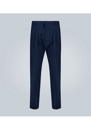 Double-pleated wool pants