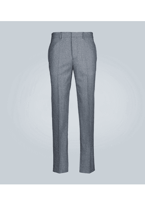 Houndstooth check wool pants