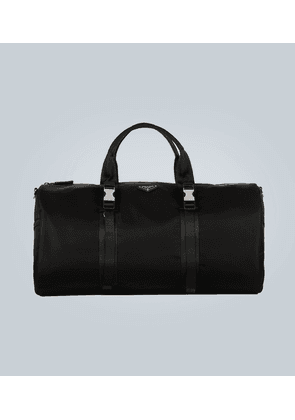 Nylon duffle bag with logo