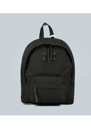 Stitched canvas backpack