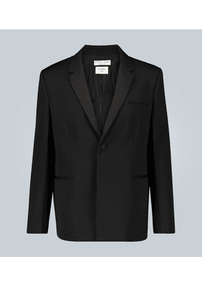 Compact wool suit jacket