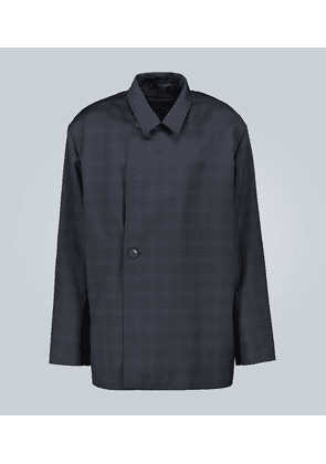Double-breasted wool flap jacket