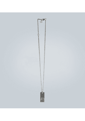 Chain necklace with logo pendant