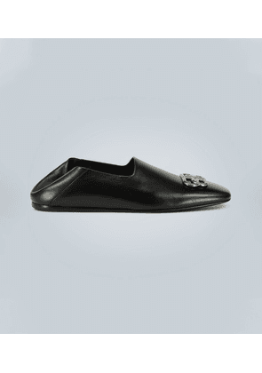 Cosby BB detail leather loafers