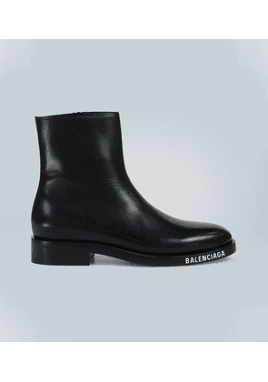 Soft leather ankle boots