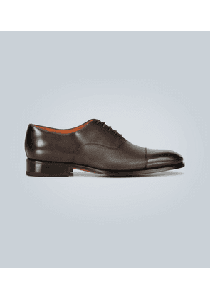 Paneled leather Oxford shoes
