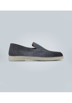 Rubber-sole suede loafers