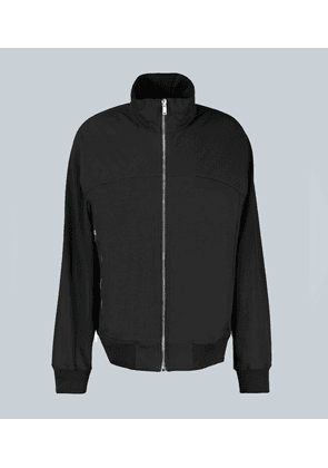 Paneled zipped sweatshirt