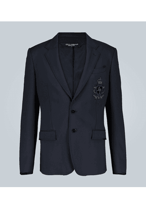Embroidered jersey blazer with logo