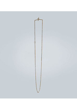 String gold vermeil necklace