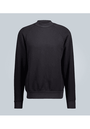 Mock neck cotton sweatshirt