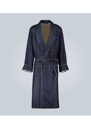 Duke silk-lined cashmere dressing gown