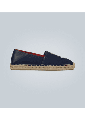 Embroidered textile espadrilles