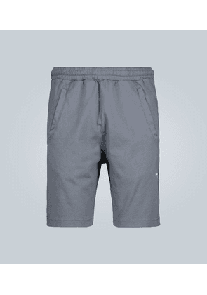 Fort reversed logo cotton shorts