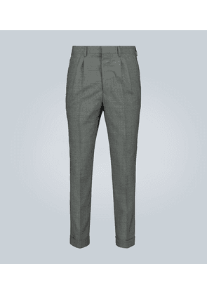 Straight-fit formal wool pants