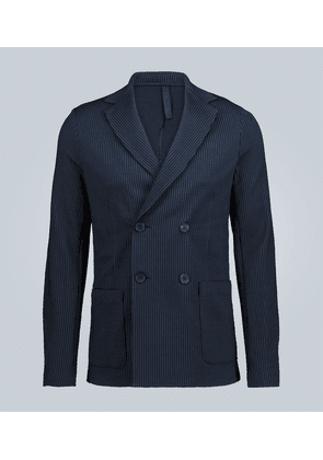 Double-breasted cotton blazer
