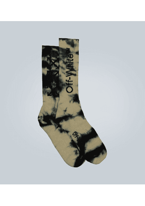 Tie-dye Arrows mid-length socks