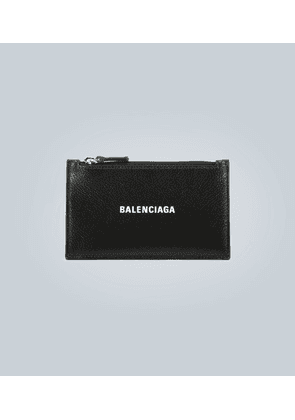 Zipped leather card case
