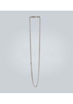 Rhodium-plated chain necklace