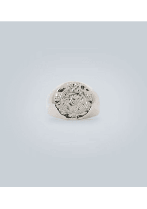 Silk coin ring in sterling silver
