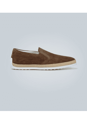 Slip-on suede shoes