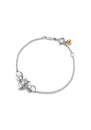 Return to Tiffany™ Love Bugs bee chain bracelet in sterling silver and 18k gold - Size Extra Small/Small