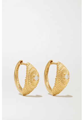 Yvonne Léon - 18-karat Gold Diamond Earrings - one size