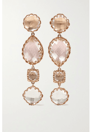 Larkspur & Hawk - Sadie 14-karat Rose Gold-dipped Quartz Earrings - one size