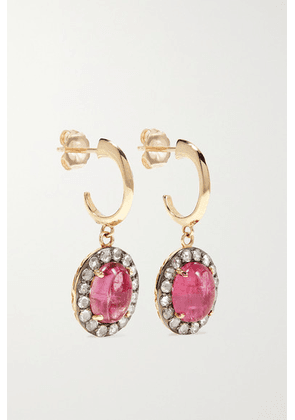 Larkspur & Hawk - Arbor Eyelet 14-karat Gold, Tourmaline And Diamond Earrings - one size