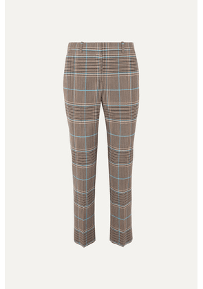 Givenchy - Checked Wool-blend Straight-leg Pants - Blue