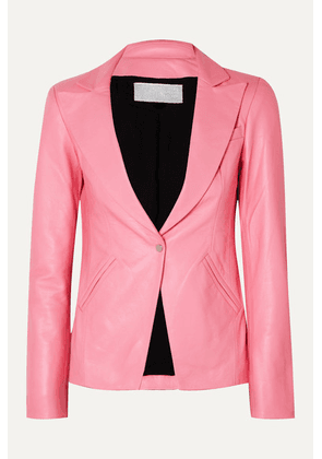 The Mighty Company - The Coventry Leather Blazer - Pink