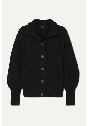 J.Crew - Cable-knit Wool-blend Cardigan - Black