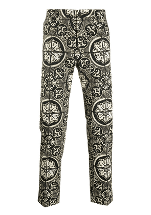 Dolce & Gabbana patterned tailored trousers - Black