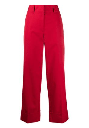 Prada cropped high-rise trousers - Red