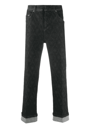 Neil Barrett denim logo print jeans - Black