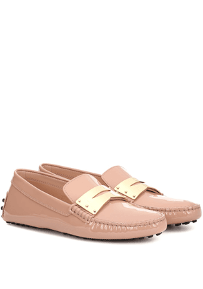 Gommino patent leather moccasins