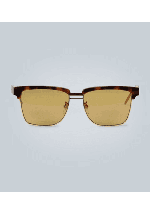 Sunglasses with square acetate frame